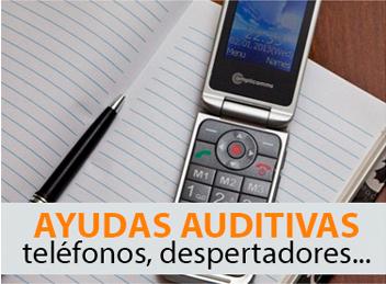 Ayudas auditivas: teléfonos, despertadores