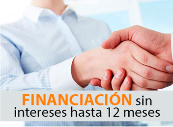 Financiación sin intereses hasta 12 meses